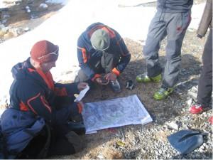 Tourenplanung auf Skihochtour mit Karte und GPS