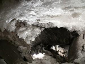 Während den Mountainbike-Touren durch die alten Bergwerksstollen können die Teilnehmer einiges entdecken: Hier die Kristallgrotte im Bergwerk Merkers...