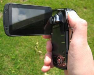 Erinnert eher an einen Camcorder: Die Outdoor-Kamera von  Panasonic