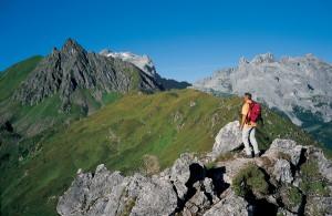Wanderung an der  Mittagsspitze im Montafon. Quelle: MontafonTourismus, Foto: Kevin Artho