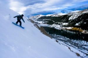 Snowboarding am Guanella Pass
