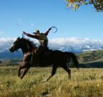 Cowboy in der Nähe von Telluride