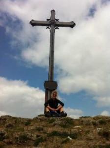Ankunft am Gipfelkreuz der Rotwand